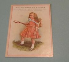 Edelman & Son Boots and Shoes Victorian Trade Card Pottstown PA Girl Bug Hunter