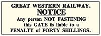 GWR Shut Gate enamelled steel wall sign   240mm x 180mm  (dp)
