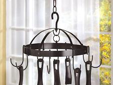 KITCHEN RACK: Mini Black Round Hanging Pot Holder