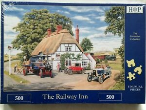 Brand New House of Puzzles 'HOP' 500 Piece Jigsaw Puzzle - THE RAILWAY INN