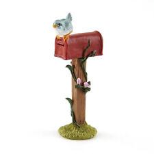 Miniature Dollhouse FAIRY GARDEN - Mini Red Mailbox with Bird - Accessories