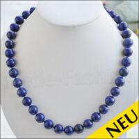 NEU 🌸 Luxus LAPISLAZULI Halskette Echter Lapis Lazuli Collier 12 mm 🌸 46 cm