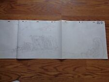 BraveStarr Cartoon Original Master Hand Drawn Background Filmation S