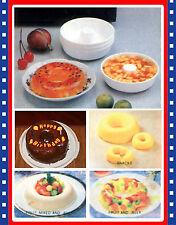 Set of 4 Mini Angel Food Bundt Cake Pan Desert Molds
