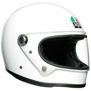 Full Face Motorcycle Helmet > AGV X3000 Vintage Retro Racing - Solid White