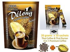 De'Long 4 in 1 King of Real instant Thai Durian coffee Thailand good taste Halal