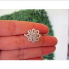 .80 Carat Face Illusion Diamond Ring Set 14k White Gold JS19R sep **