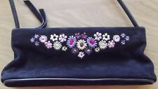 Suzy Smith Black Embroidered Evening Bag