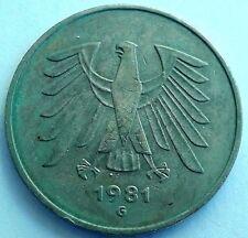 1981 G * 5 Deutsche Mark Deutschland