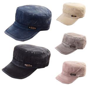 Men Women Summer Washed Cotton Classic Army Plain Hat Cadet Sport Visor Sun Cap