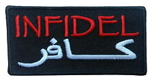 infidel Embroidered Biker MC Vest Patch