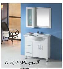 Bathroom semi-recessed and ceramic basin vanity 900