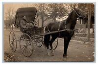 Hardinville Oblong IL Illinois Man Horse & Buggy Cigarette RPPC Postcard 1904-18