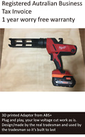 AEG Battery adaptor to Milwaukee tool- impact driver, drill, grinder, saw, torch