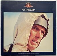 WHERE EAGLES DARE & 633 SQUADRON OST LP EMI UK 1990 RARE PRESS PRO CLEANED