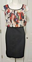 Womens Lane Bryant  Sheat Dress Multicolor Black Red Sleeveless Size 22