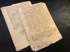 LOT OF SIGNED DOCUMENTS from 1600s