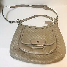 Authentic Coach No. L1169-19314 Beige Kristen Woven Leather Hobo Bag MSRP $398