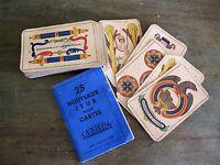ancien livret 25 nouveaux jeux pour cartes lexicon 1937 + jeu aluette Dieudonné