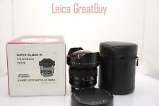 "Leica Super-Elmar-R 15mm f/3.5 MF 3 Cam Lens Boxed S/N: 3217943 ""MINT"""