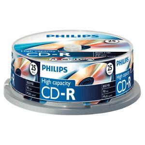 25er Spindel Philips CD-R 800 MB Rohlinge 90 Minuten Aufnahmezeit Multi-Speed