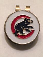"Chicago Cubs Mlb Baseball 1"" Flat Coin Style Golf Marker W/Hat Clip - A Beauty!"