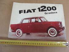 BROCHURE FIAT 1200 GRANLUCE 1200 SPYDER OLD DEPLIANT ITALY