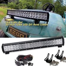 "20"" Led Light Bar + Wiring Kit For Golf Cart DIY EZGO Club Car Polaris UTV ATV"