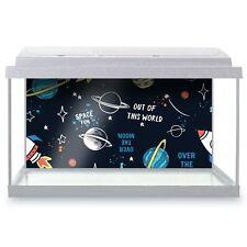 Fish Tank Background 90x45cm - Space Planets Rocket Boys  #12994