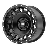 "17"" Inch 6x5.5 Wheel Rim 17x8.5 +34mm Black XD XD129 HOLESHOT"