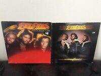 BEEGEES RECORD LOT 2 VINYL ALBUMS LPs 70s POP DISCO SPIRITS FLOWN CHILDREN WORLD