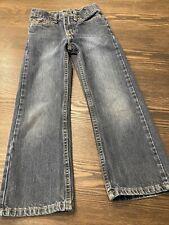 Wrangler Boys 6 Slim Dark Denim Jeans Adjustable Waist EUC