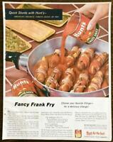 1957 Hunt's Tomato Sauce PRINT AD Fancy Frank Fry