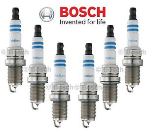 Set of 6 Spark Plugs Bosch Iridium 9604 for Acura Jeep Dodge Honda Mazda Saturn