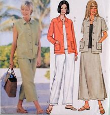 Butterick 3532 Sewing Pattern Misses Skirt Pants Top Jacket Vest Size 14 16 18