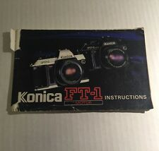 Retro Vintage Konica FT-1 Motor 35mm Film SLR Camera - User Instruction Manual