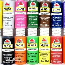 1 GLOSS Acrylic Paint 2oz Apple Barrel Indoor/Outdoor Many Colors To Build Set