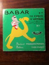 Laurent de BRUNHOFF/BABAR ET CE COQUIN D'ARTHUR  LIVRE DISQUE SUPER 45T 1957 EO