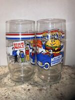 2 McDonald's MC Vote 86 Promo Glasses From 1986 VGC Glass Cup