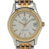 OMEGA Seamaster GP/SS White Dial Date Quartz Women's Watch L#93101