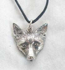 Fox Lovers Pendant in Fine English Pewter, Handmade (wa), Wildlife