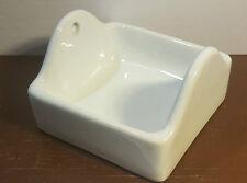 Vintage ceramic Toilet Paper Holder wall mount / White /  new old stock