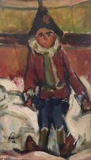 """PIERRE PRUVOST( 1921 - 2008)"""" Enfant déguisé"""" Huile sur toile.Datée 44. v180."""