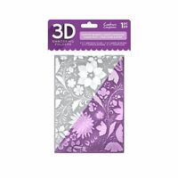 """Crafter's Companion 5"""" x 7"""" 3D Floral Card Embossing Folder - Country Garden"""