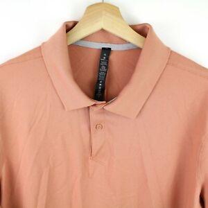 Lululemon Mens Polo Shirt Size XL Short Sleeve Apricot