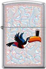 Zippo Guinness Toucan Beer Street Chrome Finish Windproof Pocket Lighter **NEW**