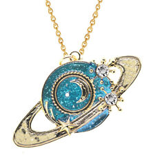 Fantasy Collection Gold Women Moon the Orbs Planet Pendant Women Necklace N569