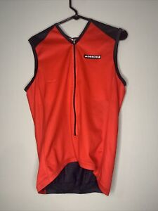 Assos Cycling Jersey size L mens Red and Black, Sleeveless