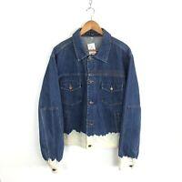 90's Richmond Bleached Denim Jacket Size 20 (XL) Blue