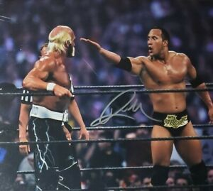 The Rock Hand Signed 8x10 Photo W/ Holo COA WWE